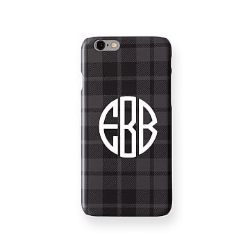 Pattern iPhone 6 Case, Grey and Black Plaid