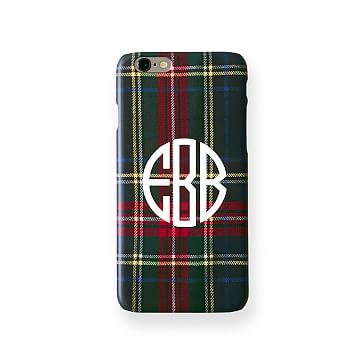 Pattern iPhone 6 Case, Black Preppy Plaid