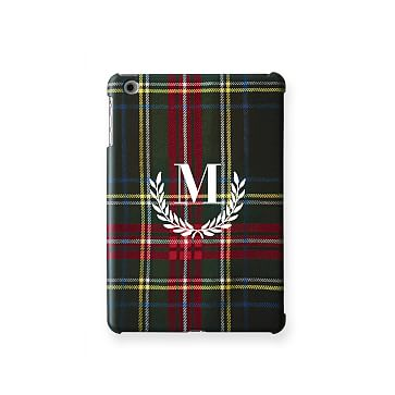 Pattern iPad Mini Case, Black Preppy Plaid