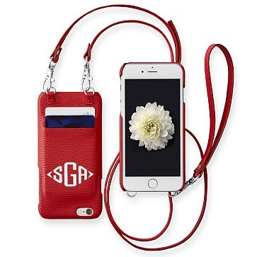 Crossbody iPhone 6 Case, Red