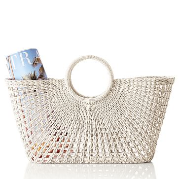 Sunburst Beach Tote, White