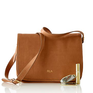 Leather Saddle Bag, Tan