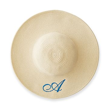 Child's Wide Brim Straw Hat, Natural