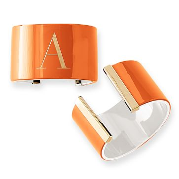 Acrylic Cuff, 2 Tone, Orange and White