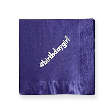 Colorful Cocktail Napkins, Set of 50, Purple, Personalized