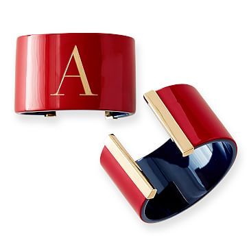 Acrylic Cuff, 2 Tone, Red and Navy