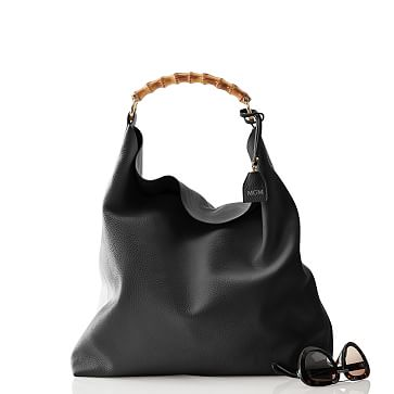 Bamboo Handle Hobo, Black