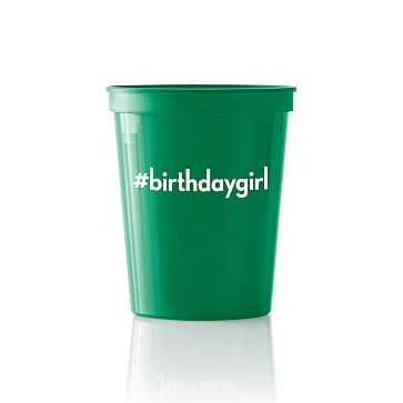 Colored Plastic Cups, Set of 25, Green, PZ