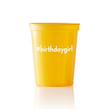 Colored Plastic Cups, Set of 25, Yellow, PZ