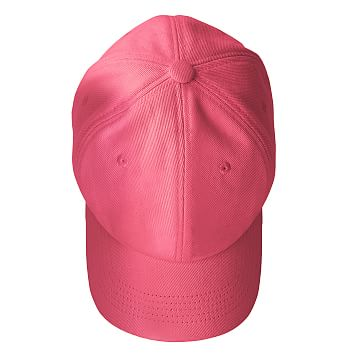 Adjustable Twill Baseball Hat with Patch, A, Magenta and White