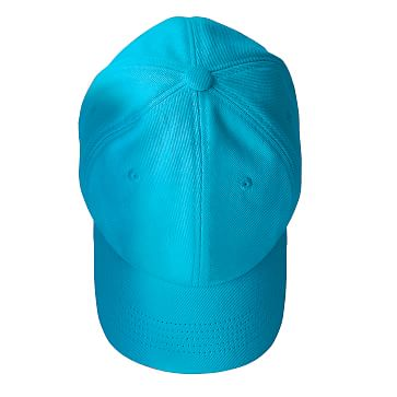 Adjustable Twill Baseball Hat with Patch, A, Turquoise and White