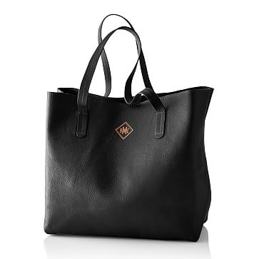 Everyday Leather Tote, Black