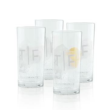 Everyday Acrylic Tumbler Glass, Set of 4, Clear