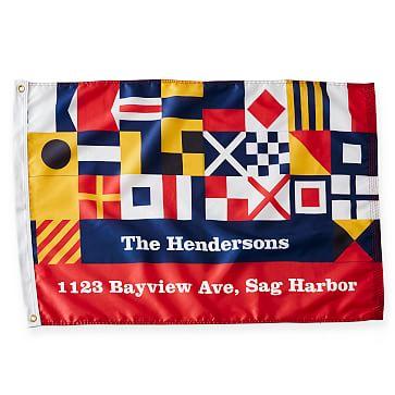 Personalized Nylon Flag, Signal Flag, 2 feet x 3 feet, Multi-Color