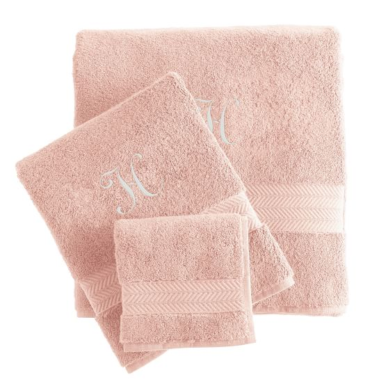 Turkish Hydro Cotton Towel Set of 3, Blush