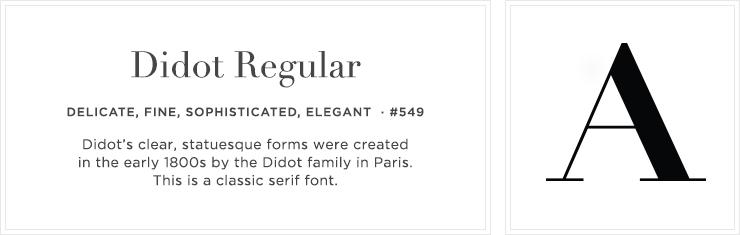 Style 549 - Didot Regular