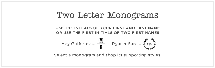 Top 2 Letter Monograms